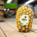 A Pinata pineapple with label
