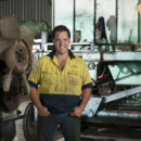 Maintenance manager Dean Lindsay in the maintenance shed, Wamuran