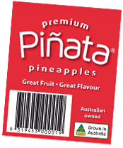 Pinata pineapple label